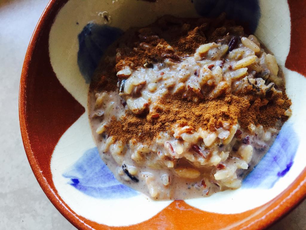 Receta de crema de arroz tricolor
