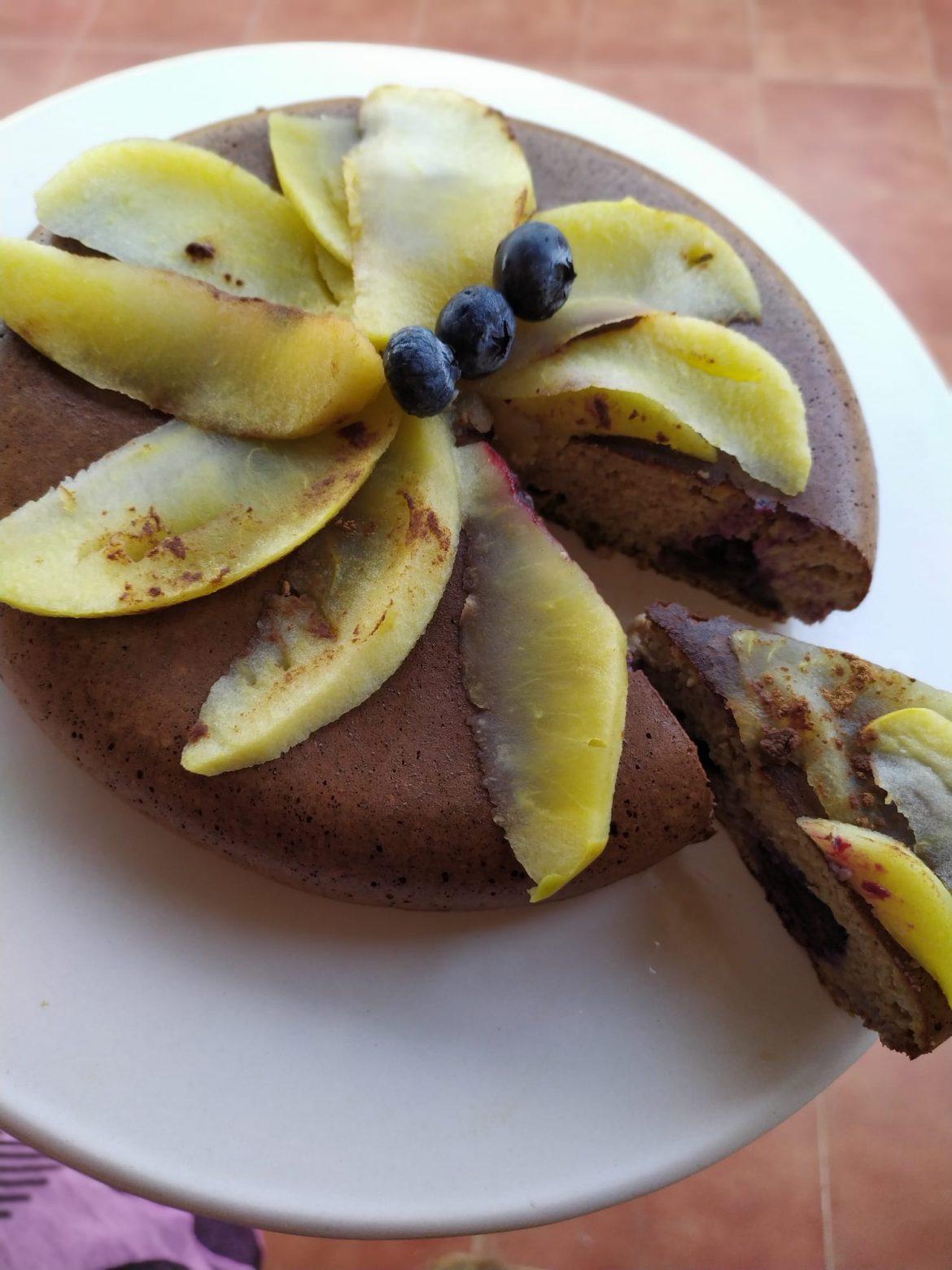 Torta de avena y manzana sin horno.